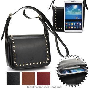 7.9 inch Tablet Womens Studded Faux Leather Shoulder Bag Case Cover BGSTU-4