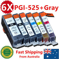 6X Ink Cartridges PGI525 CLI526 + Gray for Canon MG5250MG6100MG6150MG6250MG8150