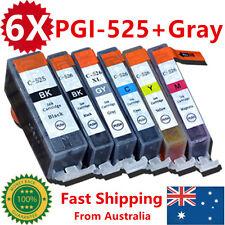 6X Ink Cartridges PGI525 CLI526 + Gray for Canon MG5250MG6100MG6150MG6250MG8150