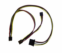 New Power Cable 3x Female FDD Floppy Drive + 1x Female Molex Amiga 600 1200 #611