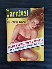 Vintage Carnival Pin Up Pocket Magazine - April 1956 - Russia's Sex Life