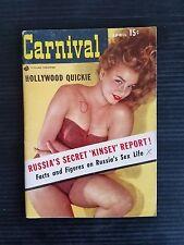 Vintage Carnival Pin Up Pocket Magazine - April 1956 - Russia's Sex Life