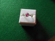14kt White Gold 1.5ct Ruby Ring