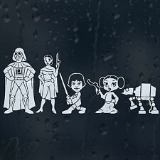 Star Wars Family Car Decal Vinyl Sticker For Window Or Panel Or Bumper