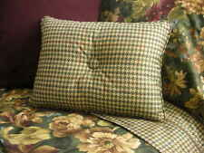 NEW Custom Ralph Lauren Edgefield Check Accent Pillow 1 Button