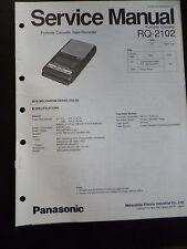 Original Service Manual  Panasonic Portable Cassette RQ-2102