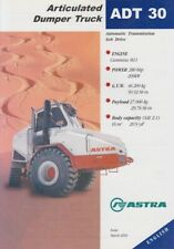 ASTRA ADT 30 2001 6x6 CUMMINS ENGINED ARTICULATED DUMPTRUCK BROCHURE PROSPEKT