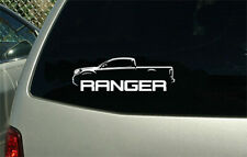 2019 Ford Ranger Supercab outline sticker decal wall graphic