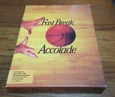 Fast Break - Accolade - Commodore  C64 /C64C/128 - Complete! Big Box Excellent