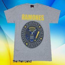 New The Ramones Men's Presidential Seal Vintage Gray  T-shirt