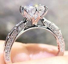 Princess Cut Ring Size 8 Silver 1.58 Carats Gleaming Simulated Moissanite
