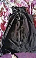 BLACK GOTHIC SKELETON BONES/LACE UP gothic dress. SIZE XL