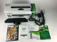 Microsoft Xbox 360 Kinect Sensor Bar Complete w/ Game, Manual & Box / Tested