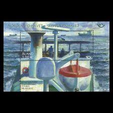"Aland 2014 - Nordia ""Ships at Sea"" Boat Fine Art Painting Nautical - MNH"