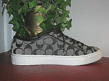 Coach Roberta Womens Black&White Signature Athletic Sneakers Tennis Shoes 8.5