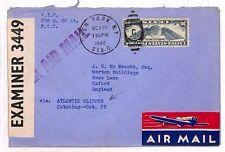 AU43 1940 USA *NEW YORK* Atlantic Clipper Oxford GB Cover {samwells-covers}PTS