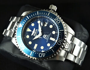Invicta 47mm Grand Diver NH35A Automatic Blue Dial Silver Tone SS 300m Watch