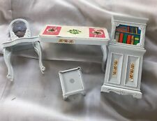 Doll House Blue Box Toy Lot Furniture