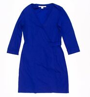 Diane Von Furstenberg New Julian Blue Wrap Dress Size 10
