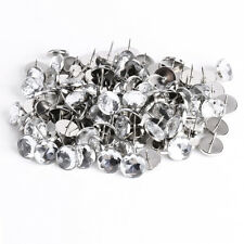 100 x 22mm Diamante/Diamond/Crystal clear upholstery/headboard decorative nails