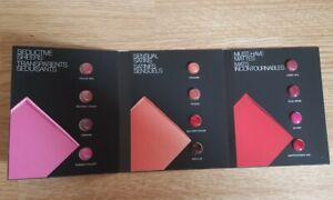 Nars lipstick ICONIC SHADES x12 sample card - satin sheer matte nude ORGASM red