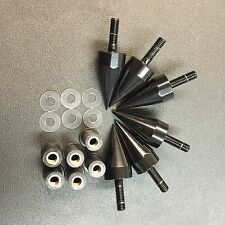 Black Spike Bolts With Mounting Parts For Windscreen Fairings License Plate