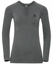 Odlo Damen Funktionsunterwäsche Langarm-shirt Outdoor grey/melange/black Gr.M