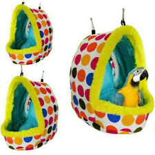 More details for bird sleep cotton nest cage hut-toys pet hammock hang cave bed parrot tent warm