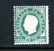 ANGOLA 17, 1886, KING LUIZ, MINT, OG, VLH, EMBOSSED (ANO005)