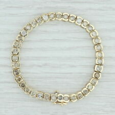 "8.75ctw Diamond Tennis Bracelet 14k Yellow Gold 7.5"" 6.1mm Champagne Diamonds"