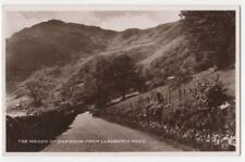 The Maiden Of Snowdon From Llanberis Pass Vintage RP Postcard 795b