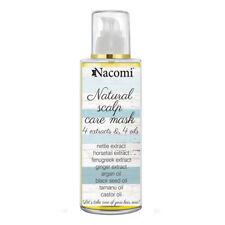 Maschera naturale cura cuoio capelluto NACOMI 4 estratti oli anticaduta capelli