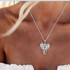 Metal Charming Retro Turquoise Silver Necklaces Bohemia Elephant Pendants