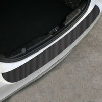 1x Black Carbon Fiber Car Rear Bumper Protector Corner Trim Sticker Accessories