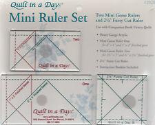 "Mini Ruler Set - 2 mini Geese Rulers & 2.5"" fussy Cut ruler - Quilt in a  Day"