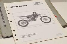 2004 CRF250X CRF 250X GENUINE Honda Factory SETUP INSTRUCTIONS PDI MANUAL S0105