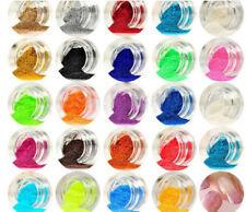 Glitter nail art nails unghie manicure brillanti gel polvere set 45 colori mani