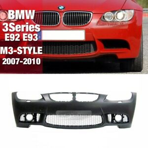 M3 Style Front Bumper W/O Fog Lamp Set W/O PDC For BMW 2007-2010 3Series E92 E93