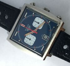 RARE VINTAGE HEUER MONACO 740303 STEVE MC QUEEN Manual wind 7740 CHRONOGRAPH