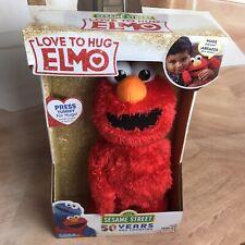 Sesame Street Love to Hug Elmo Billingual Spanish and English New 14 inch