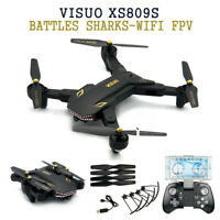 VISUO XS809S Battles Sharks Wifi FPV RC Quadcopter w/Wide Angle Camera Xmas