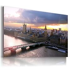 ENGLAND LONDON BIG BEN THAMES View Canvas Wall Art Picture Large L115  X  MATAGA