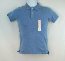Wonder Nation Boys Size 6-7 Light Blue Short Sleeve Polo School Uniform Shirt