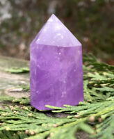 37.8g LOVELY AMETHYST QUARTZ CRYSTAL POLISHED HEALING WAND   Reiki  S.AFRICA
