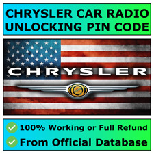 CHRYSLER RADIO PIN CODE UNLOCK DECODE CRUISER VOYAGER 300 PACIFICA EXPERT 200 ✅