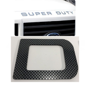Carbon Fiber  2008 - 2016 Ford F250 Super Duty Premium Hood Inserts ABS Letters