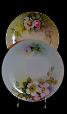 Nippon Hand Painted Set of 2 Plates Signed By Artist C.T. Kimo  Kito Kew