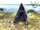 EXTRA EXTRA LARGE POLISHED Amethyst Druze Crystal Cluster With Cut Base Specimen