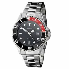 Sekonda Mens 3078 Black Dial Bracelet Watch Water Resistant 5 ATM