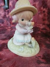 """Precious Moments- #879126 """"Lord Let Our Friendship Bloom""""-Gardener w/Mouse-Nib"""